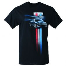 Offizielle Chevrolet Camaro Racing Stripe T-Shirt Ralph White Import